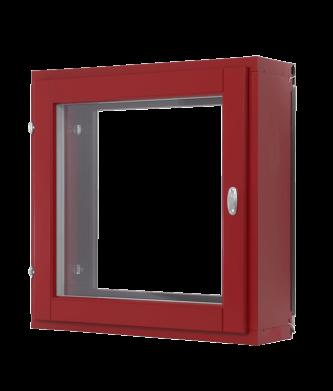 Punainen, sisään avautuva ikkuna