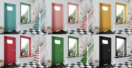 Piklas ikkunat ja ovet on saatavilla kaksivärisinä ja laajalla värivalikoimalla