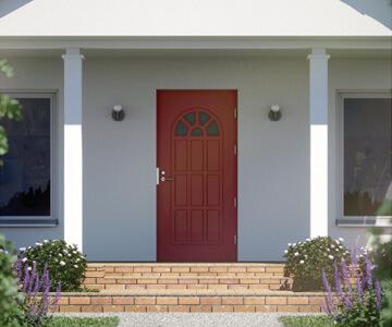 Ulko-ovet asennettuina