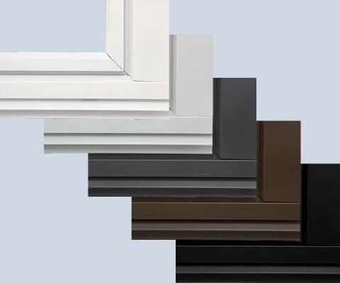Alumiininväriset ikkunat
